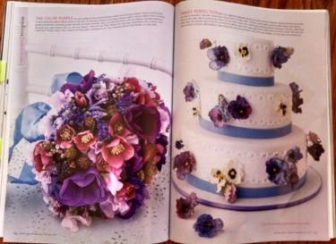Bridal flower cake