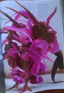 Magenta avant-garde bridal bouquet